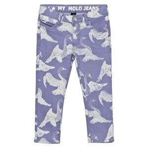 Image of Molo Girls Bottoms Blue Alfa Pants Swans