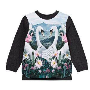 Molo Girls Tops Blue Elvira T-Shirt Swans