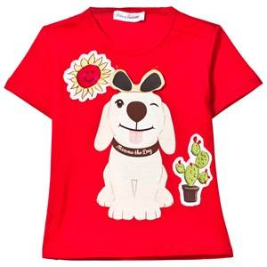 Dolce & Gabbana Boys Tops Red Red Mimmo Applique Tee with Flap Sunglasses