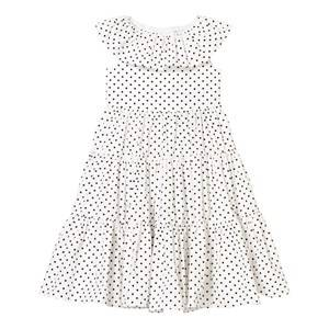 Image of Dolce & Gabbana Girls Dresses White White and Black Spot Tiered Dress