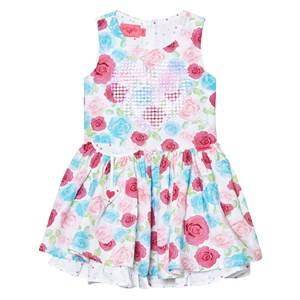 Image of Lelli Kelly Girls Dresses Pink White and Multi Rose and Sequin Heart Dress