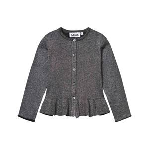 Molo Girls Jumpers and knitwear Silver Gulia Cardigan Dark Glitter