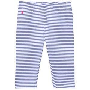 Ralph Lauren Girls Bottoms Blue Striped Capri Leggings