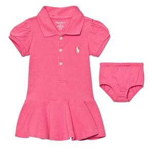 Image of Ralph Lauren Girls Dresses Pink Pink Polo Dress Bloomers