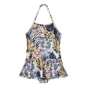 Molo Girls Swimwear and coverups Multi Noelle Swimsuit Wild Cats