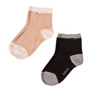 Molo Unisex Underwear Black Nice 2-Pack Socks Black Silver