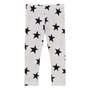 Image of Molo Girls Bottoms White Niki Leggings Black Star Print