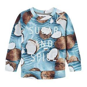 Molo Girls Jumpers and knitwear Blue Marina Sweatshirt Coconuts