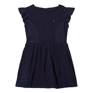 Image of Tommy Hilfiger Girls Dresses Navy Navy Frill Sleeve Dress