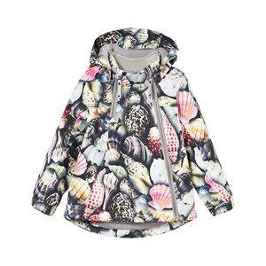 Image of Molo Unisex Coats and jackets Multi Hopla Rain Jacket Sea Treasure