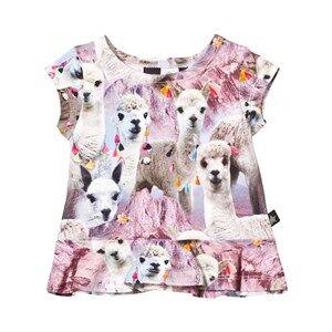 Molo Girls Tops Pink Ebba T-Shirt Lovely Llama