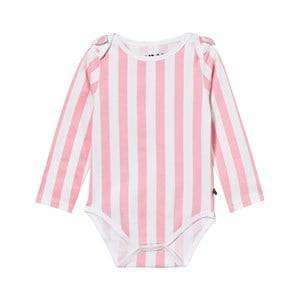 The BRAND Girls Private Label All in ones Pink Bow Onesie Pink Stripe