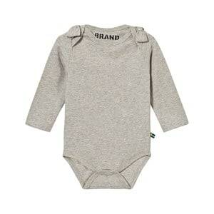 Image of The BRAND Girls Private Label All in ones Grey Bow Onesie Grey Melange