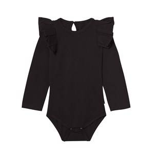 Image of The BRAND Girls Private Label All in ones Black Flounce Onesie Black