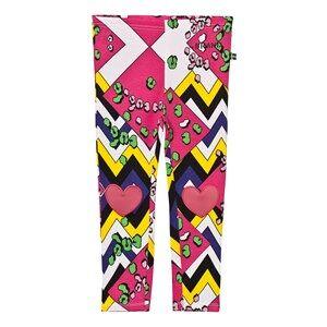 Image of The BRAND Girls Private Label Bottoms Multi Heart Leggings Multi Color