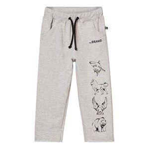 The BRAND Boys Private Label Bottoms Grey Animal Sweatpants Grey Melange