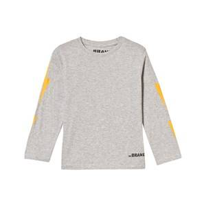 The BRAND Unisex Private Label Tops Grey Boom Long Tee Grey Melange