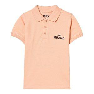The BRAND Unisex Private Label Tops Orange Pique Top Patch Peach