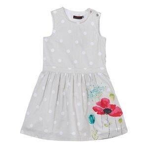 Image of Catimini Girls Dresses Grey Grey Spot and Floral Print Dress