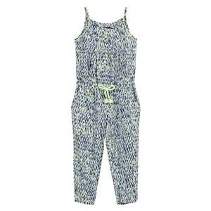 Image of Catimini Girls All in ones Multi Navy and Green Multi Print Jumpsuit