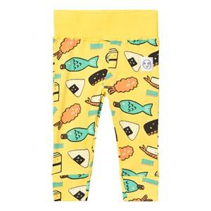 Indikidual Unisex Bottoms Yellow Yellow Sushi Leggings