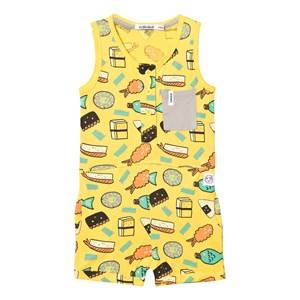 Image of Indikidual Girls All in ones Yellow Yellow Dojo Romper