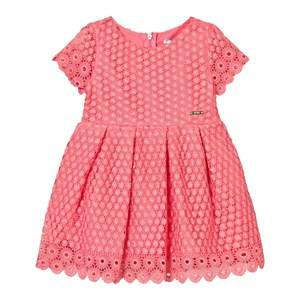 Image of Mayoral Girls Dresses Pink Coral Eyelet Dress