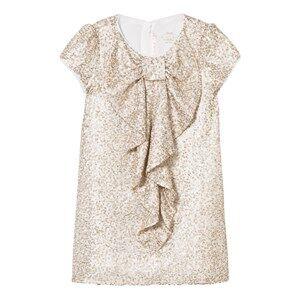 Billieblush Girls Dresses Gold Gold Sequin Bow Front Dress