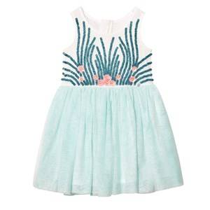 Billieblush Girls Dresses Blue Mint Tulle Sequin and Embellished Dress
