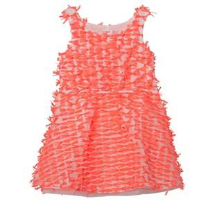 Image of Billieblush Girls Dresses Pink Neon Pink Organza All Over Bow Dress