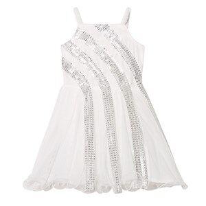 Image of Billieblush Girls Dresses White Off-White Sequin Detail Party Dress