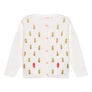 Image of Billieblush Girls Jumpers and knitwear Cream Ivory Cardigan with Glitter Pineapple