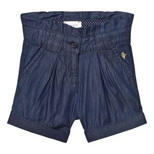 Carrément Beau Girls Skirts Blue Blue Pleated Indigo Shorts