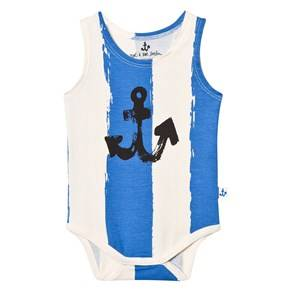 Noe & Zoe Berlin Unisex All in ones Blue Blue Stripe Anchor Baby Body