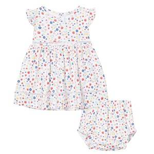 Image of Kissy Kissy Girls Dresses Pink Pink Strawberry Floral Dress with Bloomers