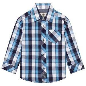Timberland Boys Tops Blue Blue Check Shirt