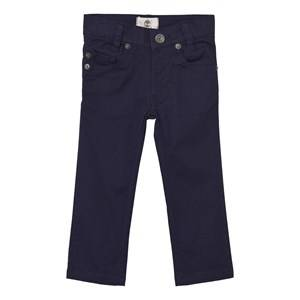 Timberland Boys Bottoms Navy Navy Slim Fit Cotton Twill Trousers