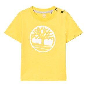 Timberland Boys Tops Yellow Yellow Branded Tree Logo Tee