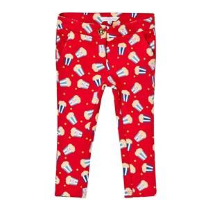 Little Marc Jacobs Girls Bottoms Red Red Popcorn Print Milano Trousers