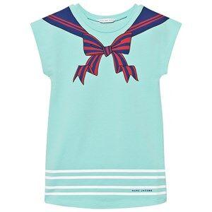 Little Marc Jacobs Girls Dresses Blue Turquoise Sailor Print Dress