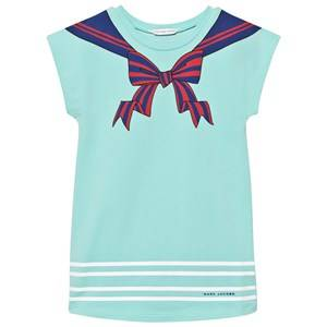 Little Marc Jacobs Girls Dresses Blue Turquoise Sailor Print Dress
