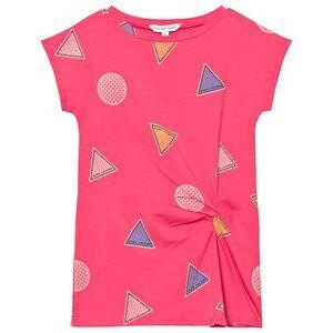 Little Marc Jacobs Girls Dresses Pink Pink Branded Badge Print Twist Dress