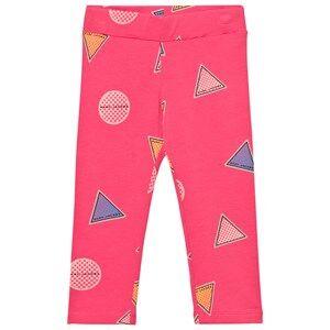 Little Marc Jacobs Girls Bottoms Pink Pink Branded Badge Leggings
