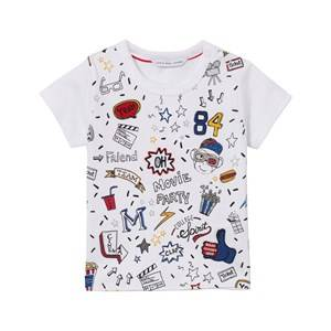 Image of Little Marc Jacobs Boys Tops White White All Over Print Icon Tee