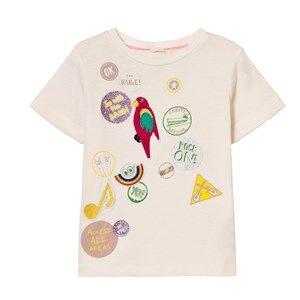 Stella McCartney Kids Girls Tops White White Badge Print Arlow Tee