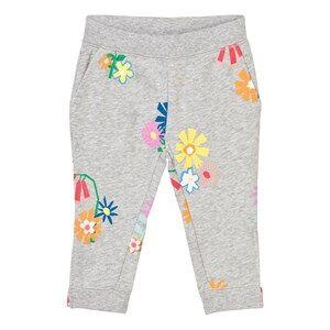 Stella McCartney Kids Girls Bottoms Grey Grey Melange Floral Print Sweatpants