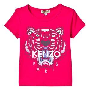 Kenzo Girls Tops Pink Hot Pink Tiger Print Tee