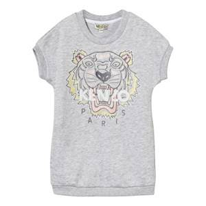 Kenzo Girls Dresses Grey Grey  Tiger Print Sweatshirt Dress GreyEmbroidered Sweat Dress