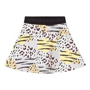 Kenzo Girls Skirts Grey Animal Print Skirt Multi Colour