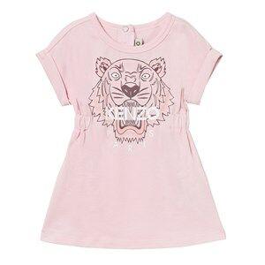 Image of Kenzo Girls Dresses Pink Pale Pink Tiger Print Jersey Dress